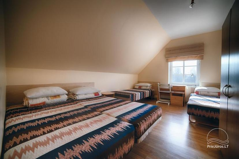 Ferienwohnungen, Zimmer, Ferienhütten, Camping, Haus mit Halle Sodyba prie jūros - 19