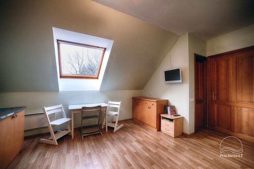 Ferienwohnungen, Zimmer, Ferienhütten, Camping, Haus mit Halle Sodyba prie jūros - 20