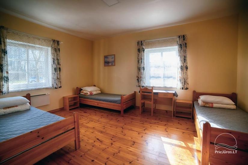 Ferienwohnungen, Zimmer, Ferienhütten, Camping, Haus mit Halle Sodyba prie jūros - 24