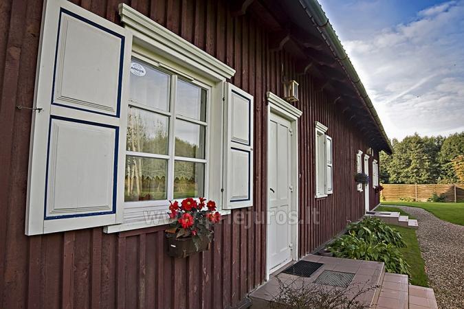 Ferienwohnungen, Zimmer, Ferienhütten, Camping, Haus mit Halle Sodyba prie jūros - 6