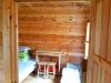 Medinis dviejų kambarių namelis poilsiui