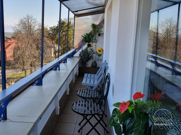 Dzīvoklis Sana  Nidas centrā ar lielu balkonu (6 metri) ar skatu uz Kuršu lagūnu - 10