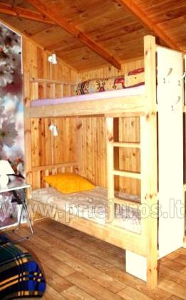 Holiday log-hut with terrace rent in Palanga SAULES NAMELIS, 200m from the sea! - 7