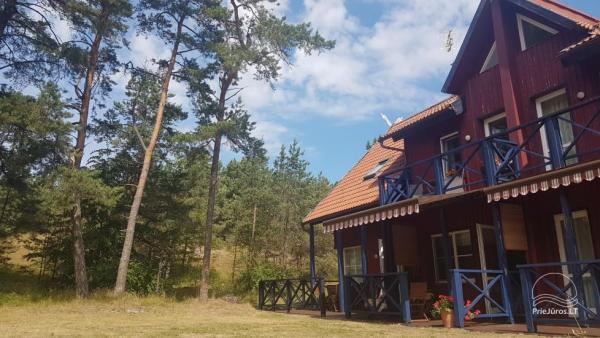 Ferienwohnung in Pervalka für bis zu 6 Personen: separater Eingang, Terrasse