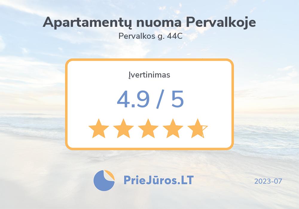 Poilsiautojų atsiliepimai – Apartamentų nuoma Pervalkoje, Pervalkos g. 44C