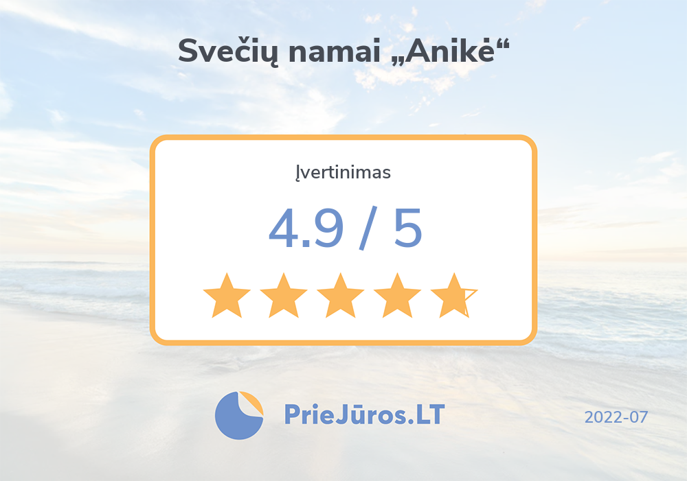 """Holiday makers' reviews – Svečių namai """"Anikė"""""""