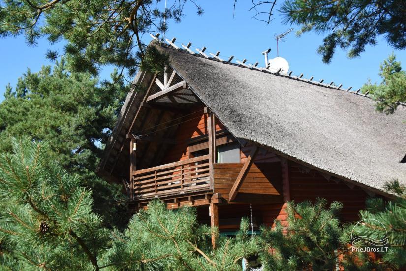 Holzhütte in Butinge am Meer, mit einem Beachvolleyballfeld . - 31