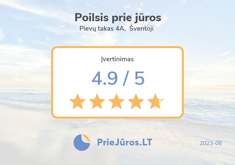 Urlauber Bewertungen – Poilsis prie jūros, Pievų takas 4A, Šventoji