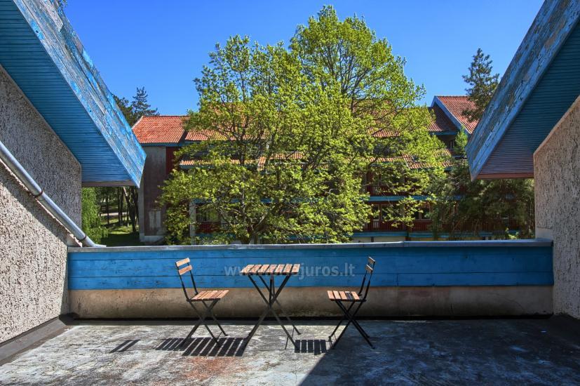 4+2 numeris: svetainė, 2 miegamieji, 2 vonios kambariai ir 50 kv.m. terasa ant pastato stogo