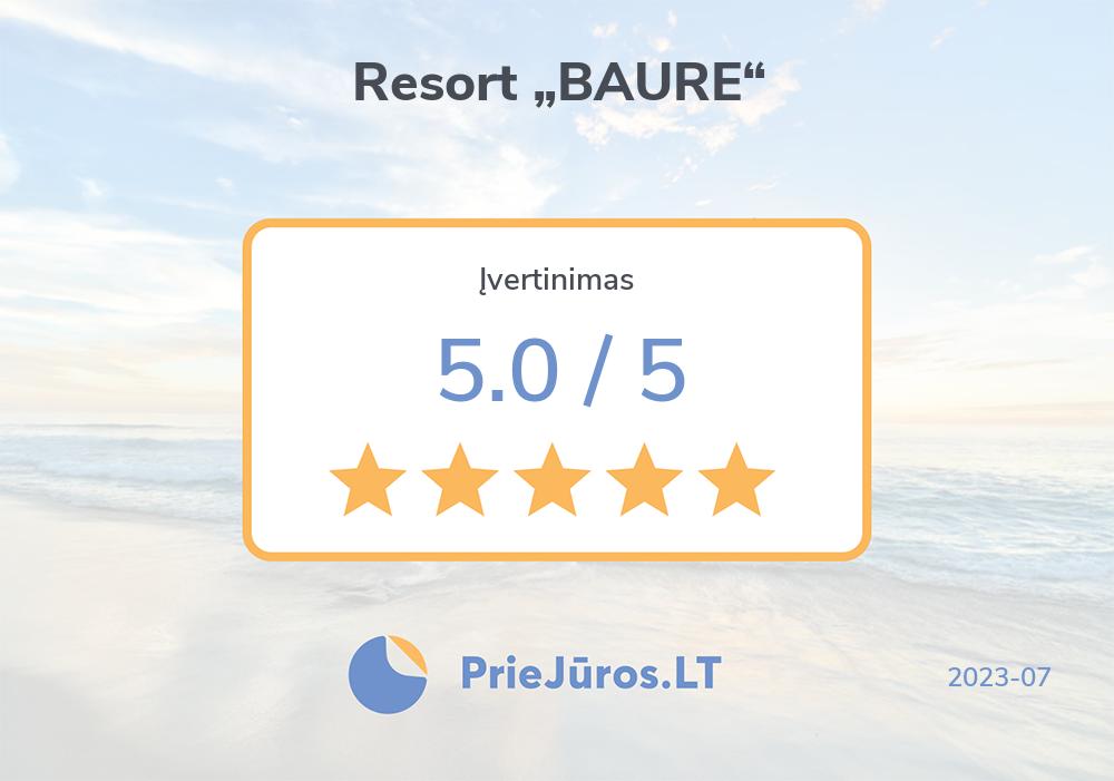 """Poilsiautojų atsiliepimai – Resort """"BAURE"""""""
