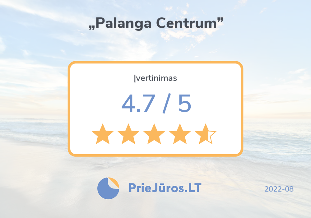 "Holiday makers' reviews – ""Palanga Centrum"""