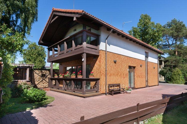 Luxusvilla zu vermieten im Zentrum von Palanga VILLA GUDORA – privater Garten, 400 m vom Meer