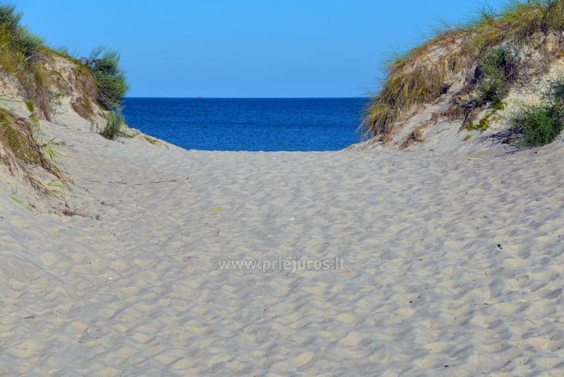 Wide sandy beaches of the Baltic sea