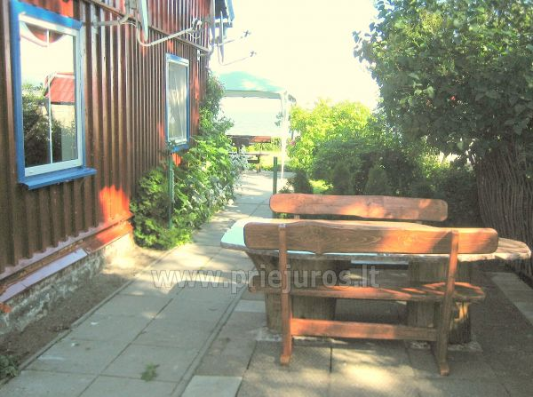 Studio apartment in Nida: on the ground floor, overlooking the lagoon, an arbor with garden furniture in the yard - 3