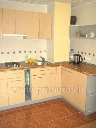 Studio apartment in Nida: on the ground floor, overlooking the lagoon, an arbor with garden furniture in the yard - 5