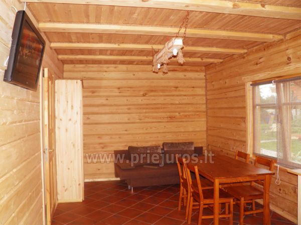 Zwei Zimmer Wohnung und Zimmer zu vermieten in Sventoji, in Holzhaus - 6