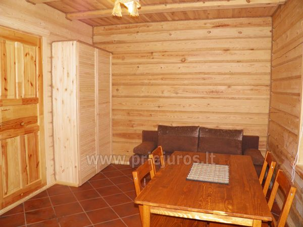 Two rooms apartment and rooms for rent in Sventoji, in wooden house - 8