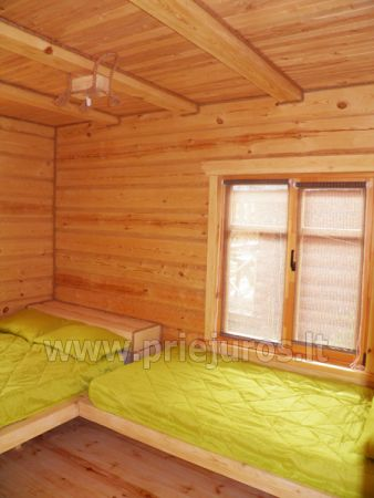 Two rooms apartment and rooms for rent in Sventoji, in wooden house - 9