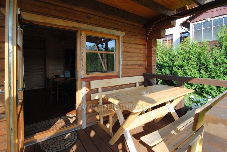 Two rooms apartment and rooms for rent in Sventoji, in wooden house - 12