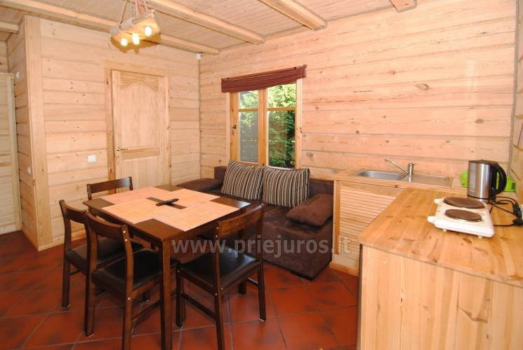 Two rooms apartment and rooms for rent in Sventoji, in wooden house - 13
