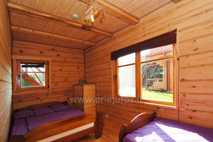 Zwei Zimmer Wohnung und Zimmer zu vermieten in Sventoji, in Holzhaus - 16
