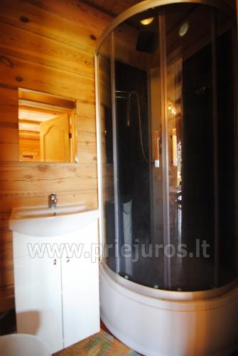 Zwei Zimmer Wohnung und Zimmer zu vermieten in Sventoji, in Holzhaus - 19