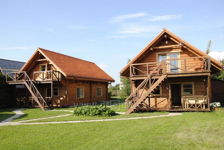 Zwei Zimmer Wohnung und Zimmer zu vermieten in Sventoji, in Holzhaus - 1