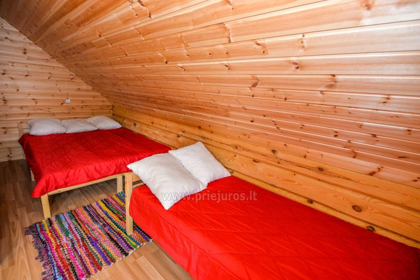 Two rooms apartment and rooms for rent in Sventoji, in wooden house - 21
