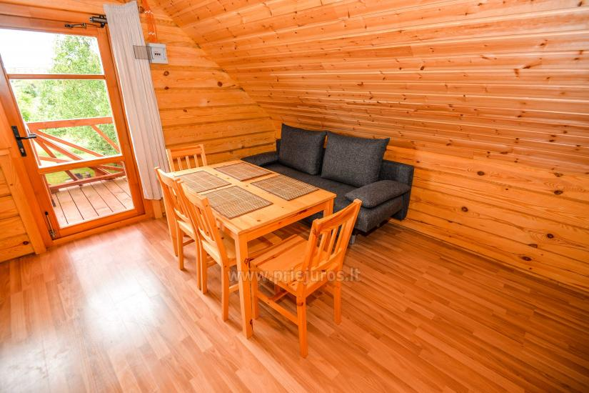 Two rooms apartment and rooms for rent in Sventoji, in wooden house - 22