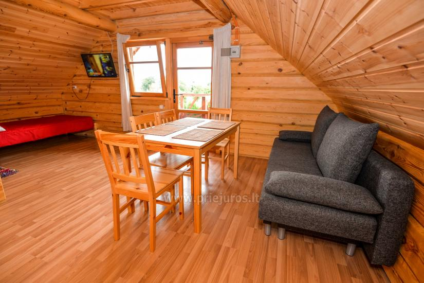 Two rooms apartment and rooms for rent in Sventoji, in wooden house - 23