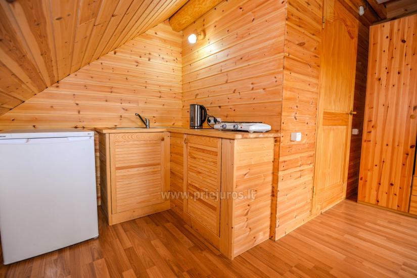 Zwei Zimmer Wohnung und Zimmer zu vermieten in Sventoji, in Holzhaus - 24