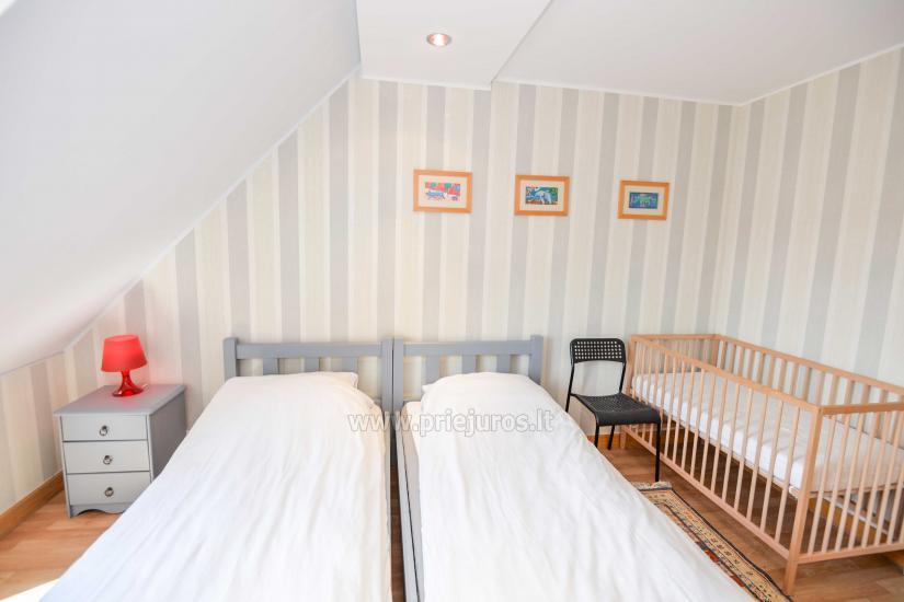 Wohnung in Nida für 8-10 Pers. mit Kamin, Balkon - 11