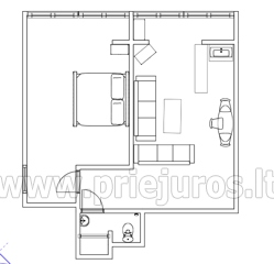 Two-room apartment for rent in Pervalka - 22
