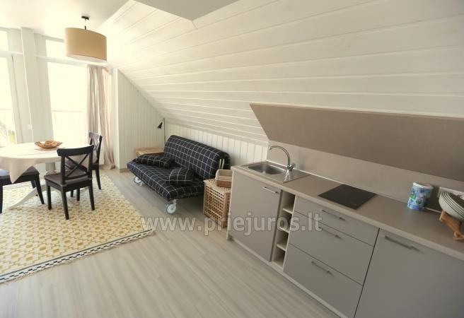 Puikiai įrengti apartamentai Preiloje ant marių kranto. Yra pirtis, sūkurinė vonia! - 5