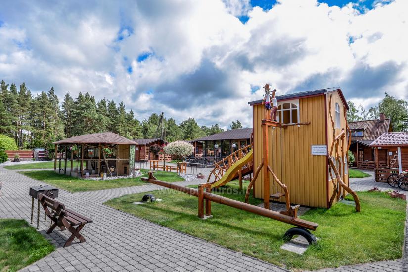 Dziugutis. Zimmer und Holzhäuser zur Miete in Sventoji - 12