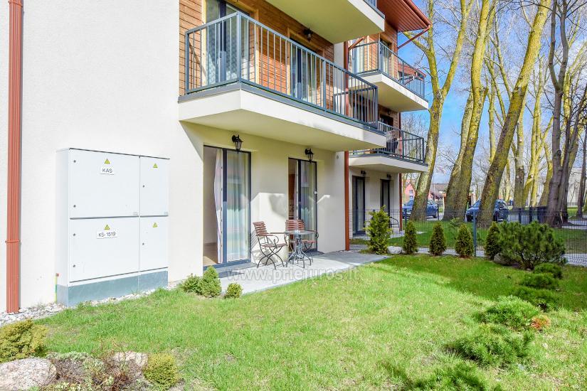 Nauji 2 kambarių apartamentai MALŪNO VILOS: pirmas aukštas, terasa-kiemelis - 3