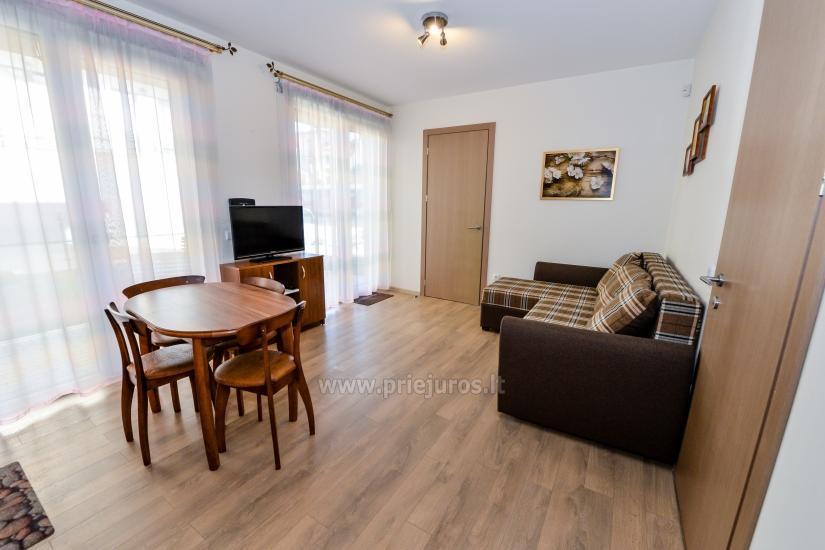 Nauji 2 kambarių apartamentai MALŪNO VILOS: pirmas aukštas, terasa-kiemelis - 8