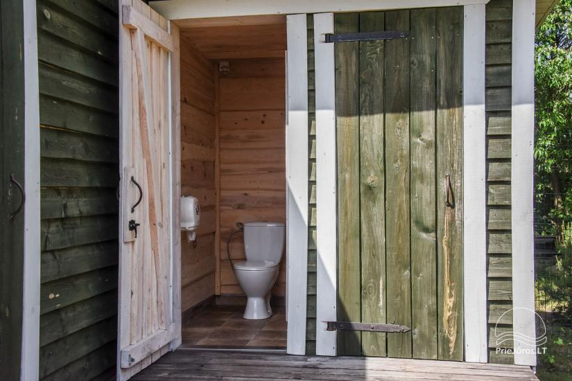 Showers and WC for holiday cottages with shared amenities