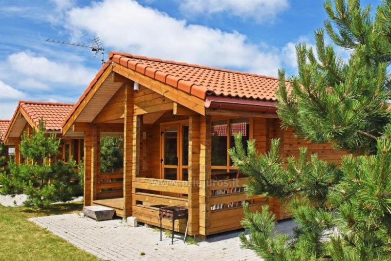 Nauji rąstiniai keturviečiai nameliai Palangoje, Kunigiškiuose. Ramiam poilsiui netoli jūros!