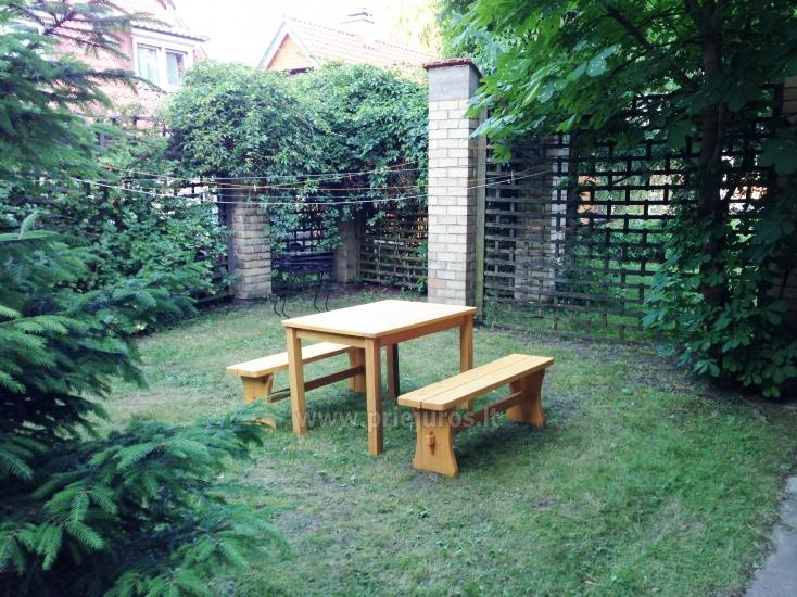 One room apartment with patio in Pervalka