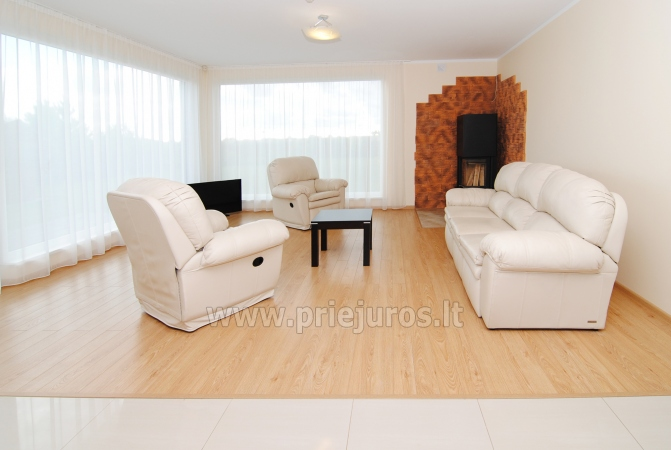 House for rent in Sventoji (Palanga): 4 bedrooms, wide living room with kitchen, 3 bathrooms - 8