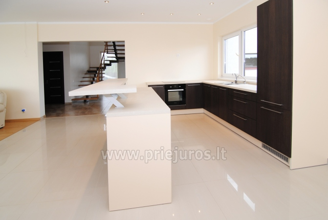 House for rent in Sventoji (Palanga): 4 bedrooms, wide living room with kitchen, 3 bathrooms - 12