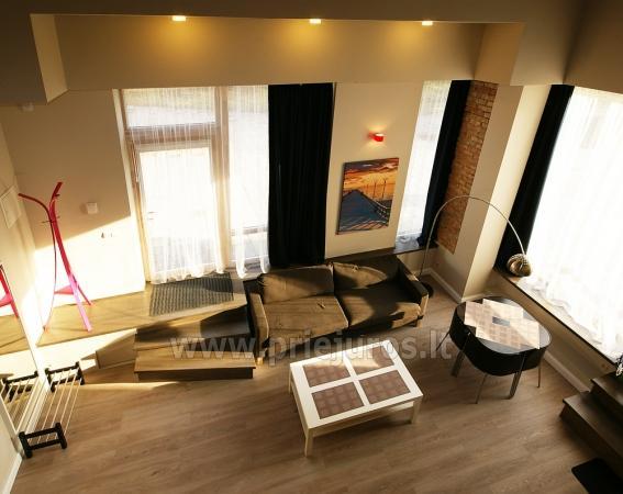 Apartamentai-loftai Palangoje. Pirmas aukštas, atskiri įėjimai iš kiemo