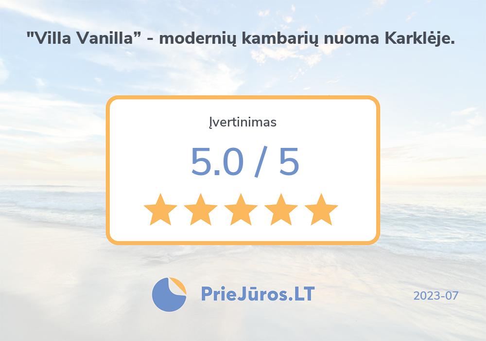 "Holiday makers' reviews – Svečių namai ""Villa Vanilla"""
