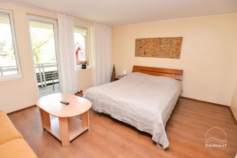 Apartments in Neringa: Terrasse / Balkon mit Blick auf die Lagune, Wi-Fi - 7