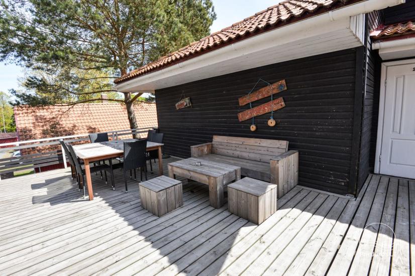 Apartments in Neringa: Terrasse / Balkon mit Blick auf die Lagune, Wi-Fi - 13