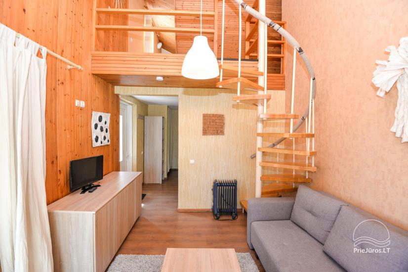 Apartments in Neringa: Terrasse / Balkon mit Blick auf die Lagune, Wi-Fi - 14