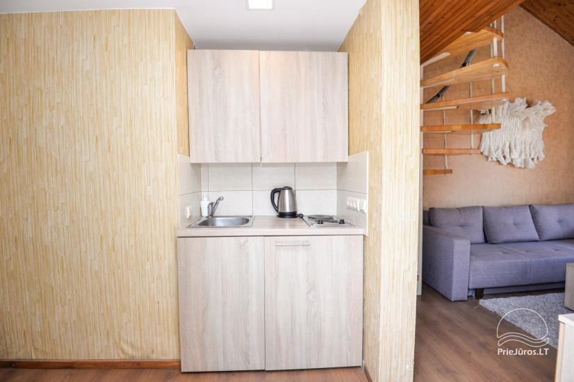 Apartments in Neringa: Terrasse / Balkon mit Blick auf die Lagune, Wi-Fi - 15