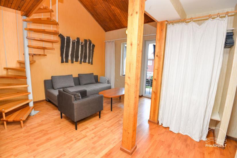 Apartments in Neringa: Terrasse / Balkon mit Blick auf die Lagune, Wi-Fi - 17