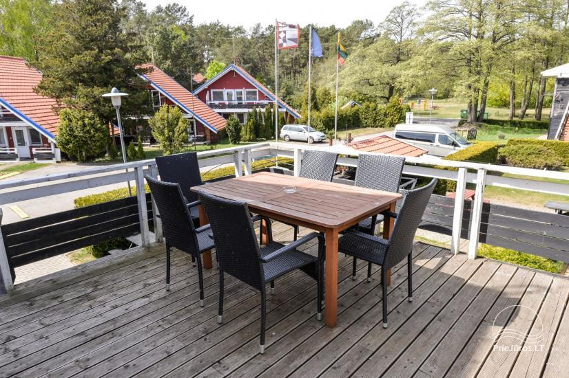 Apartments in Neringa: Terrasse / Balkon mit Blick auf die Lagune, Wi-Fi - 20